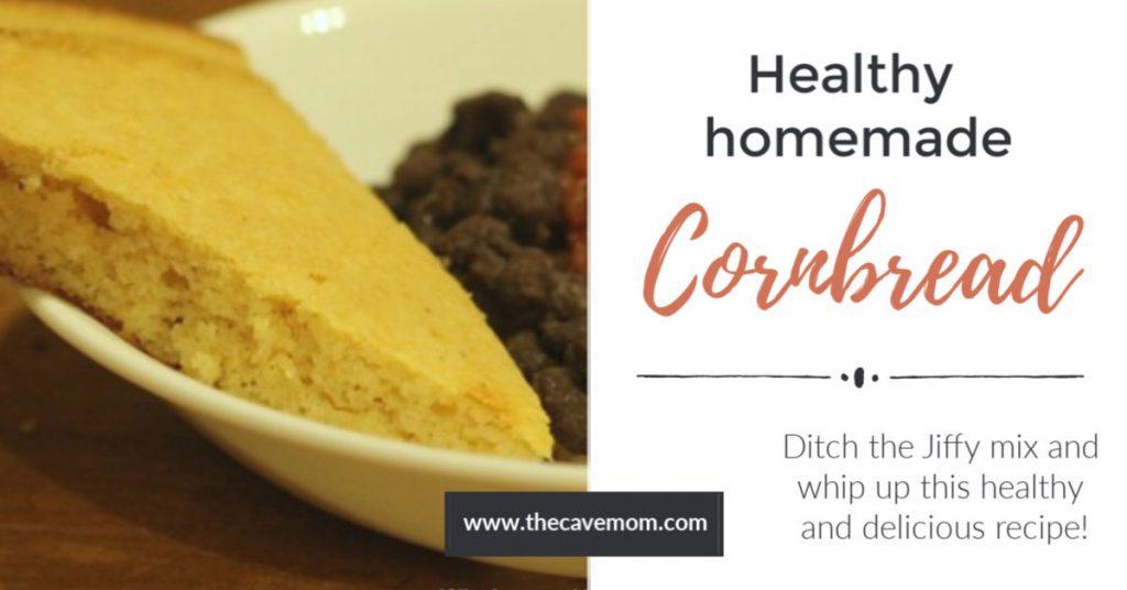 Healthy homemade cornbread