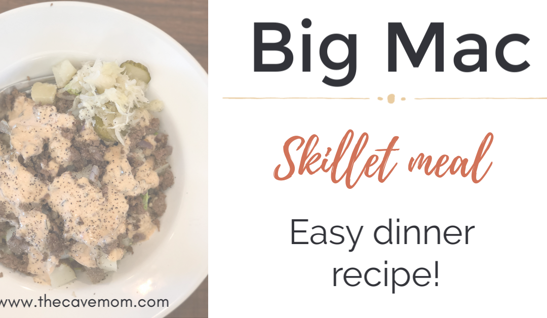Big Mac recipe – in a skillet!