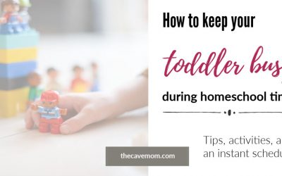Toddler activities for homeschool time